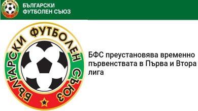 Photo of БФС преустановява временно първенствата в Първа и Втора лига