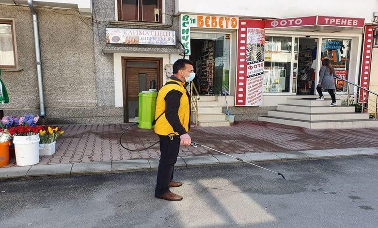 Община Тетевен започна действия по дезинфекция на публични площи